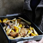 Recipe: Autumn Roast Pork with Pears and Parsnips