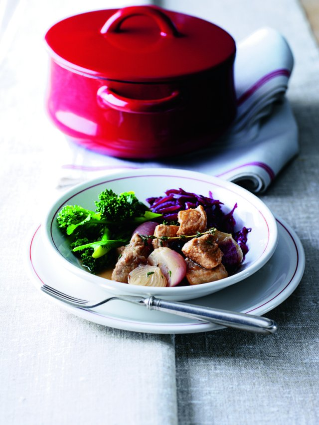 Pork and Cider Casserole with Cranberry and Thyme