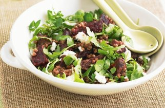 Beetroot And Lentil Salad With Creamy Goat's Cheese
