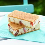Recipe: Rhubarb Gelato Wafer with Rose Water