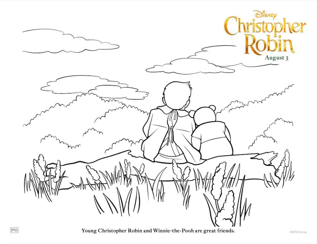 Free Christopher Robin Coloring Pages Amp Activity Sheets