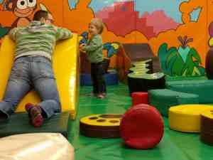 Soft play fun with daddy at the zoo