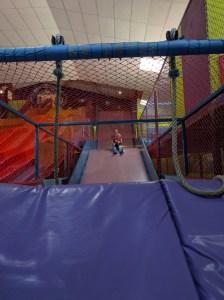 A slide into a ball pit!