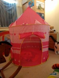 His castle tent