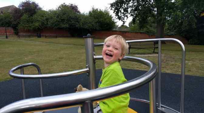 Having fun at the park