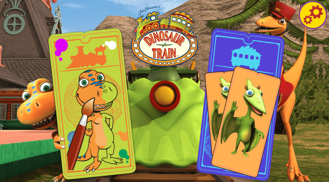 Dinosaur Train: Paint & Match App Review