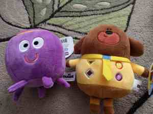 Betty the Octopus and Hey Duggee soft toys