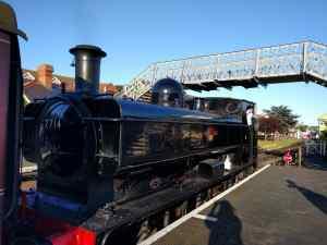 Steam train at Sheringham Station