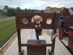 Boy in the stocks