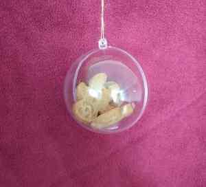 Gingerbread men inside bauble