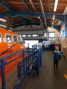 Looking at a lifeboat