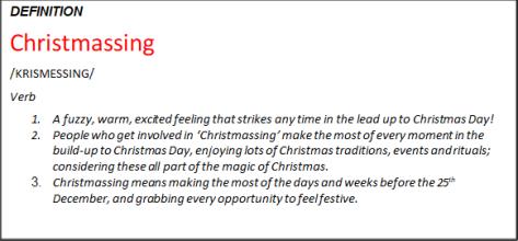 Christmassing