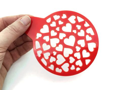 Quilted Heart stencil