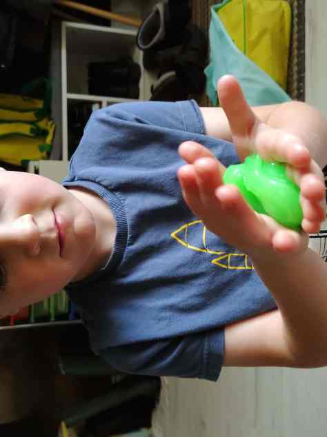 boy with green slime