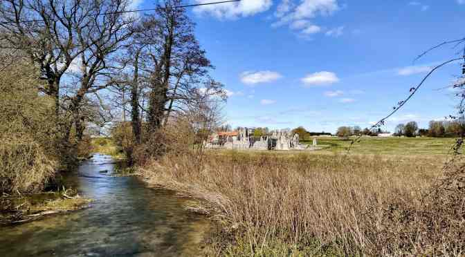 goals update - view across river of castle acre priory
