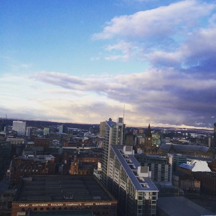 Grey & Blue Skies; City Skyline