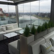 Rooftop Bar in the hotel; Wide range of cocktails and a lovely view of the castle and River Wisla