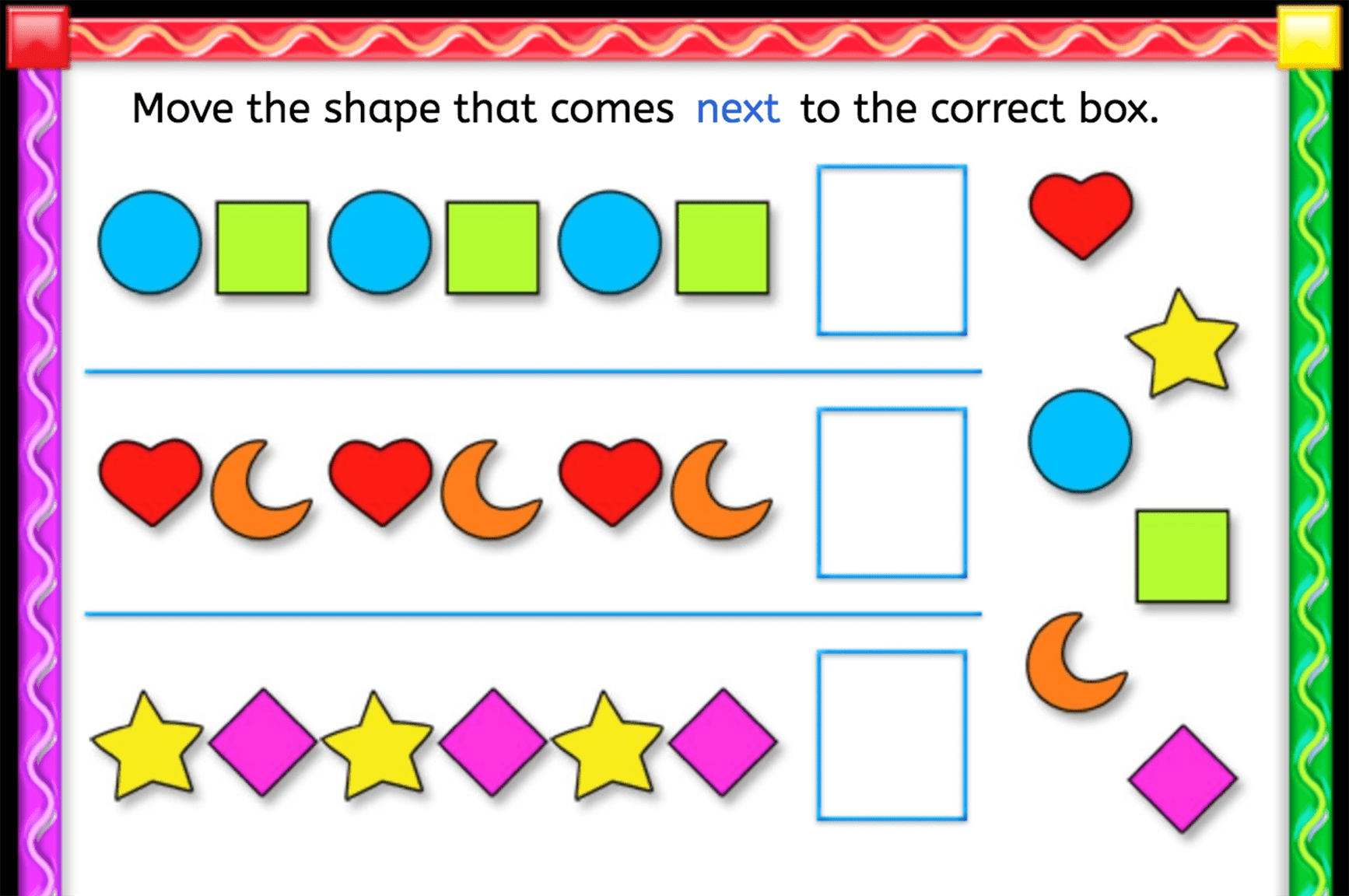 Finish The Pattern With Shapes
