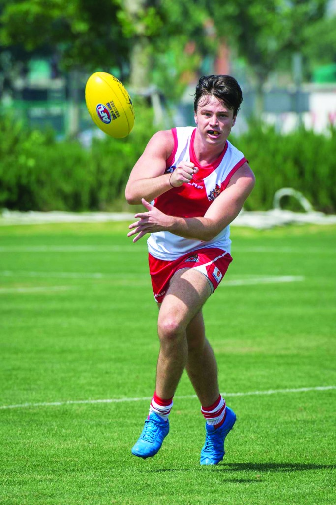 ANZA Singapore Wombats AFL team President Dion Shaw