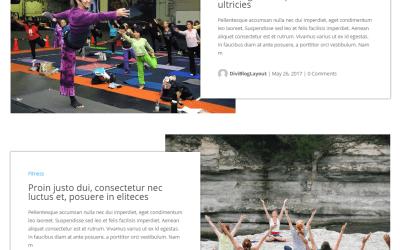 Divi Category Layout for Fitness Website Blog
