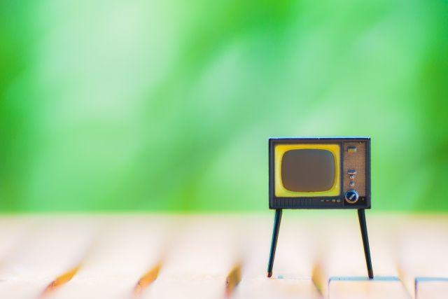 昔のTVのミニチュア