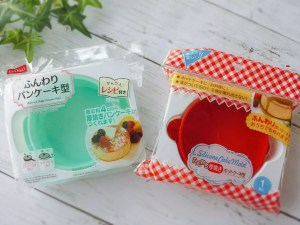ダイソー ふんわりパンケーキ型 セリア 厚焼きホットケーキ型