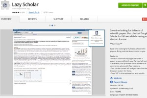 Lazy Scholar Extension Page