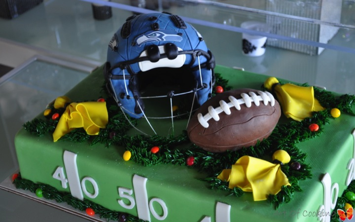 Seahawks Football Birthday Cake Full Service Catering And Event
