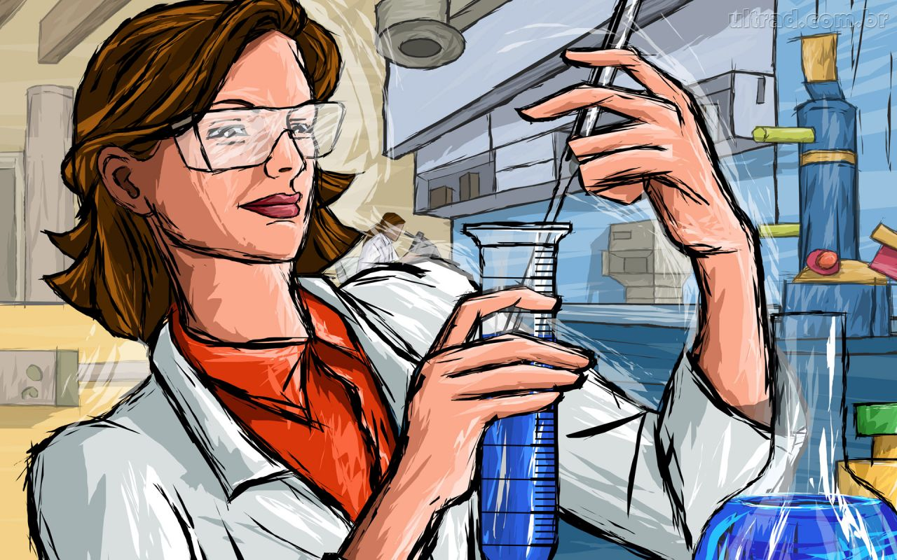 mulher cientista