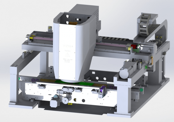 High precision control system of AOI