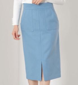 「ケイジとケンジ」第3話比嘉愛未のドラマ衣装水色のタイトスカート