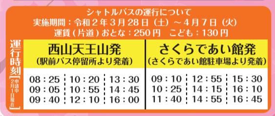 西山天王山駅 シャトルバス