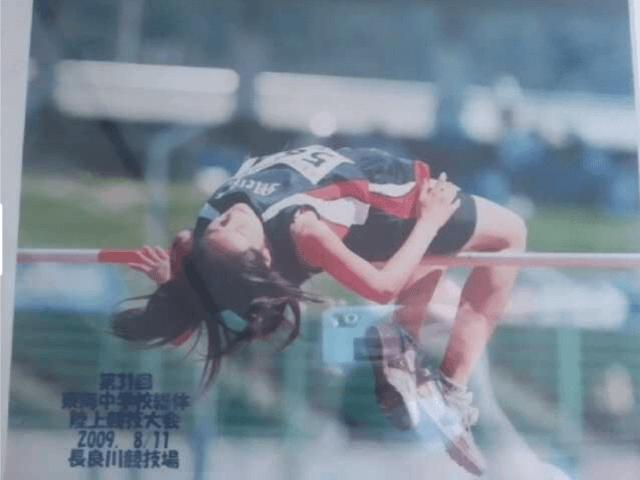 東海中学校総体陸上競技大会2009年8月11日長良川競技場に高跳びで出場した清野菜名