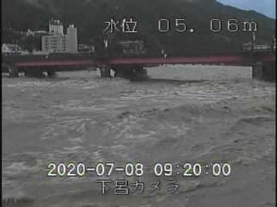 飛騨川下呂ライブカメラ映像の静止画