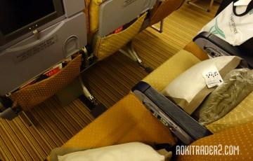 シンガポール航空エコノミークラス座席