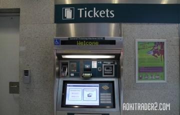 シンガポールMRTの切符券売機