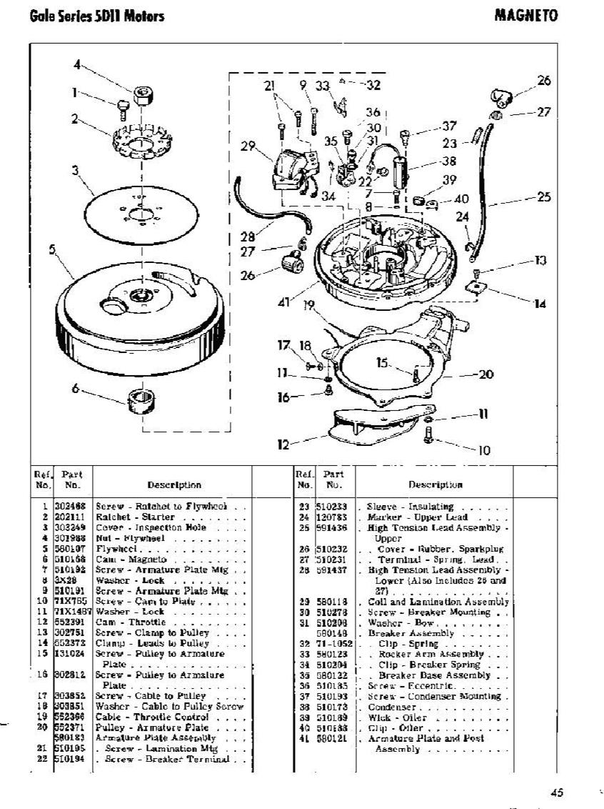 NOS OMC Johnson Evinrude Screw 510194 510194