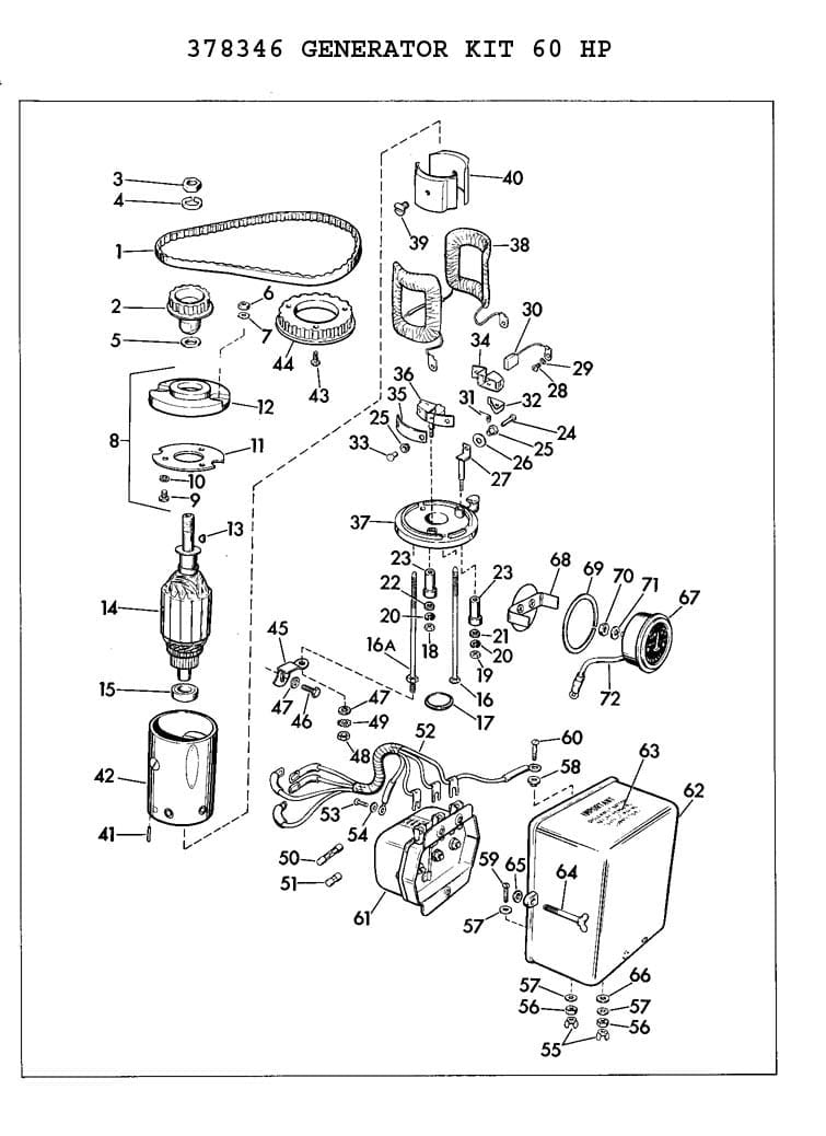 1964 Evinrude Sportfour 60hp Voltage Regulator ?