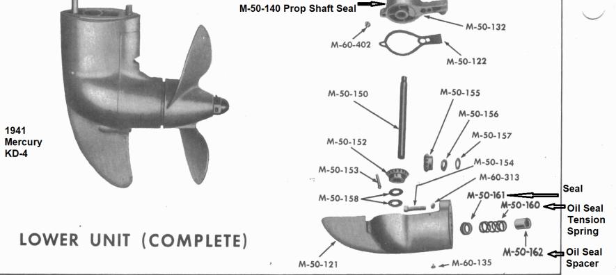 Mercury-KD-4-Gear-Case-Seals
