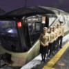 豪華寝台列車「四季島」青森駅で初公開した。