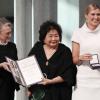 <ノーベル賞>ICAN、平和賞授賞式「核兵器廃絶」届け 県原爆被害者の会・田中正司さん(青森)