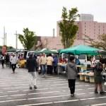 「街&丘の朝市」がグランドサンピア八戸の前で開催!
