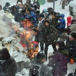青森・諏訪神社=家内安全願い「焼納祭」@2019年1月7日
