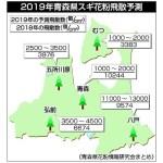 青森県内 2019年春のスギ花粉予測 八戸は「大飛散」か ?