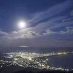 青森 むつ・釜臥山からの夜景 日本百名月に認定!@「第4回全国名月サミット」