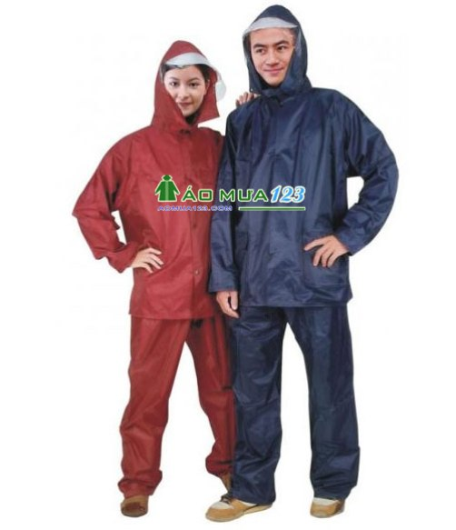 Áo mưa bộ vải dù loại đặc biệt