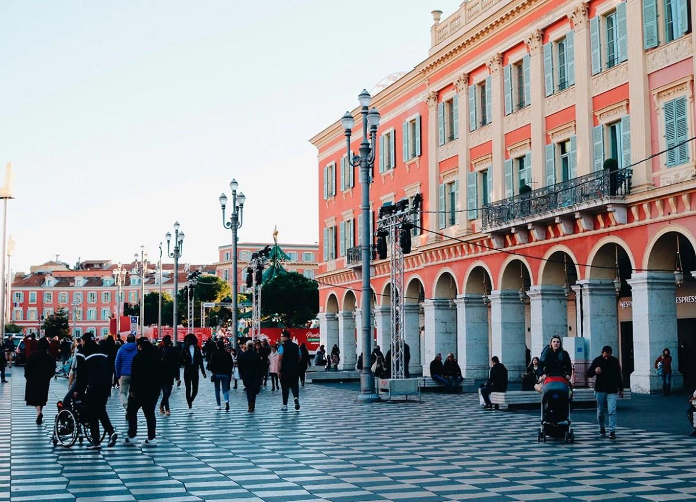 O centro de Nice