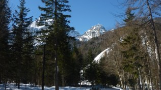 View of ski jump from Planica hostel