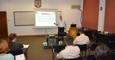 "AORR member invited as a guest-lecturer by the National Defense University ""Carol I"""