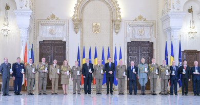"The Romanian Reserve Officers Association (AORR) was awarded by the President of Romania with the Memorial Medal ""Centenary of the War for National Unity"""